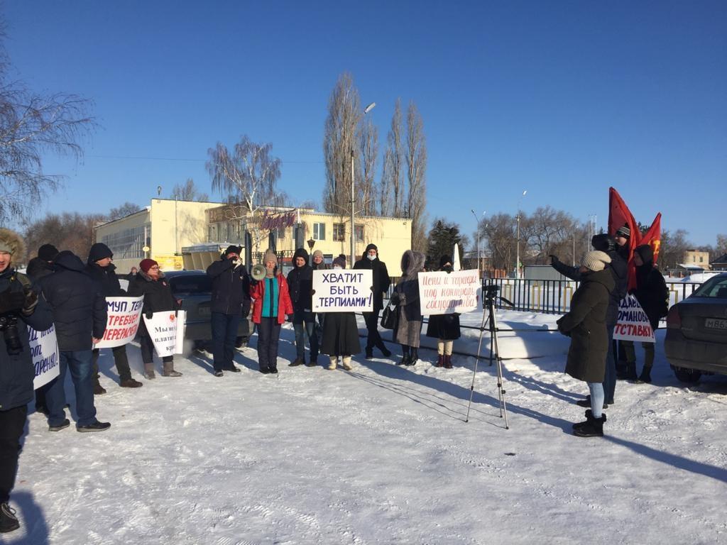 митинг в марксе 23 февраля - наш маркс - ксения чернова