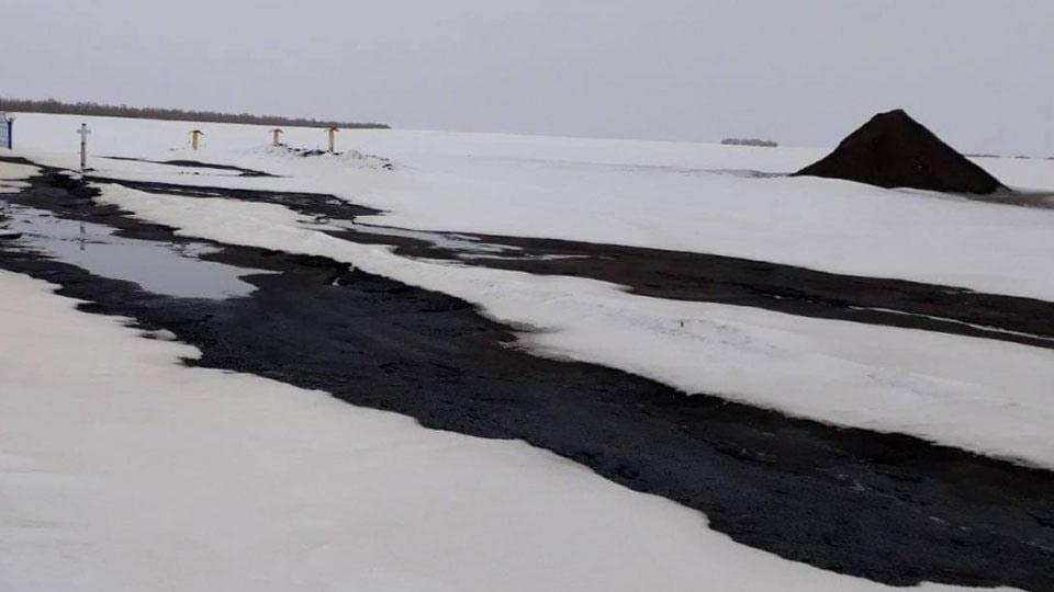В Саратовской области произошла утечка нефти